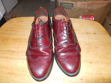 Mens Bostonian Classics Burgundy Cordovan Leather Wing Tip Dress Shoes 9 1/2 EEE