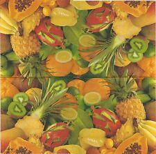 2 Serviettes en papier Fruits exotiques Decoupage Paper Napkins Exotic Fruits