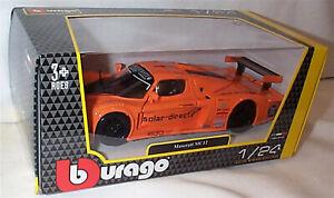 Maserati Mc12 Edo Competition Race 2006 Bareither Orange Burago 1:24 opening