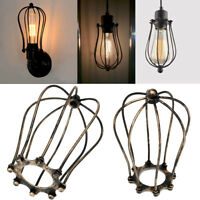Bronzed Vintage Metal Iron Wire Bulb Cage Lamp Guard Shade For Lights Industrial