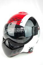 ROOF Boxer v8 Star, Casco pieghevole, Casco da moto, casco, Black-Red, Taglia L, NUOVO