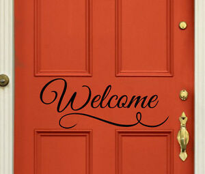 Entryway Decor Modern Farmhouse Style Hello Decal for Front Door or Entryway Decor WB411