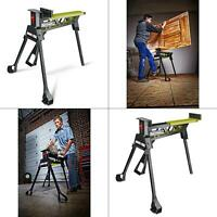 37 in. jawhorse workbench | rockwell portable steel saw legs foot pedal lever