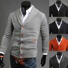 Hot Mens Boy Slim Fit V-neck Knitwear Pullover Cardigan Sweater Jacket Coat Tops