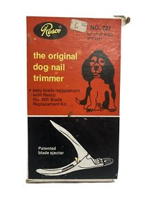 Vintage Resco The Original Dog Nail Trimmer No. 727 For Dogs And Cats