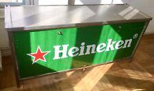 Heineken Klapptresen ☂︎ Gastro Edelstahl Theke 2m klappbar mobil ☂︎ Vintage Rar