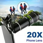 HD 20X Clip on Optical Zoom Telescope Camera Lens for Universal Mobile Phone