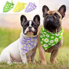 Floral Dog Bandanas for Large Dogs Pet Dog Adjustable Collar Neckerchief Bulldog