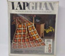 """Vintage WonderArt Lapghan Afghan Crochet Kit 3171 """"Granny"""" 36x45 Unopened Nos"""