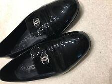 CHANEL women black shoes UK 5.5 EU 38.5