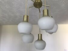VINTAGE/RETRO LIGHT FITTING - 5 Arm - With Glass Shades.