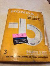 Honda 125 C92 CS92 CA92 150 C95 CS95 CA95 Parts liste catalogue pièce détachée