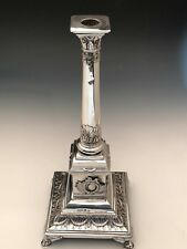 """Beautiful antique Russian Silver 14.25"""" Candlestick, 84% Silver"""