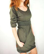 NAKETANO Scoop Neck 3/4 Sleeve Stretch Jersey Short Dress w/ Pockets size XS