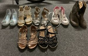 Lot of little girls dress-up shoes sizes 10-11