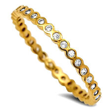 USA Seller Eternity Yellow Ring Sterling Silver 925 Best Deal Jewelry Size 9