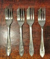 Four 1930s Silver Plated Pastry Forks by Sheffield of England--Loxley Pattern