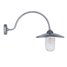 Garden Trading St Ives Arched Swan Neck Exterior Galvanised Wall Light