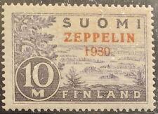 Finland 1930 Very Scarce Zeppelin Scott C1 Beautiful Stamp MVLH MNH