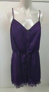 Guess Purple Lace Detail Playsuit Romper Sz L