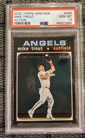 Mike Trout 2020 Topps Heritage #466 Action Variation SP Angels *PSA 10 GEM MINT