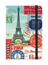 """Cavallini & Co. 4"""" X 6"""" Paris Collage Notebook, Small Eiffel Tower Notebook"""