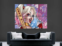 HARLEY QUINN COMIC STYLE POSTER SUICIDE SQUAD IMAGE WALL ART