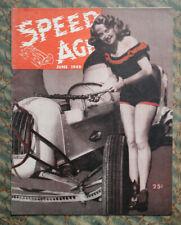1949 SPEED AGE Auto Racing Hot Rod Flathead 1932 Vintage ScTa Stock Car Races