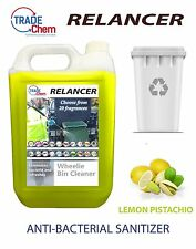 Wheelie Bin Cleaner 5L Relancer Anti-Bacterial Sanitizer LEMON PISTACHIO