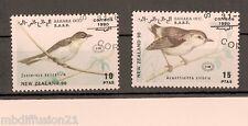 1990 - 2x TIMBRES OBLITERES - NEW.ZEALAND - OISEAUX - SAHARA OCCIDENTALE