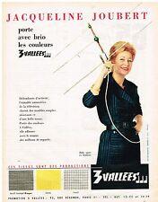 PUBLICITE ADVERTISING  1960    radio les 3 Vallées avec Jacqueline Joubert