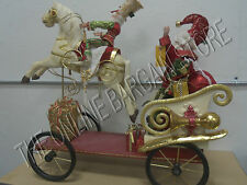 Frontgate Mark Roberts Christmas Holiday Santa Elf Riding Carousel Horse Decor