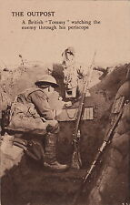 "THE OUTPOST - A BRITISH ""TOMMY"" WATCHING ENEMY THROUGH PERISCOPE~ WW l ~ C -1915"