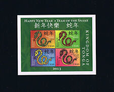 2013 Tonga Year of the Snake Souvenir Sheet