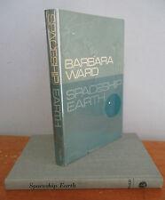 SPACESHIP EARTH Science & Society by Barbara Ward, 1966 1st Ed in DJ