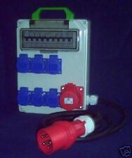 Stromverteiler,32A auf  1x16A,6xSchuko