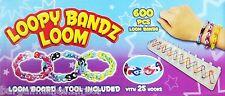 2 X LOOPY BANDZ LOOM  600 BANDS TWISTER KIT INCLUDE LOOM BOARD & 25 S CLIP