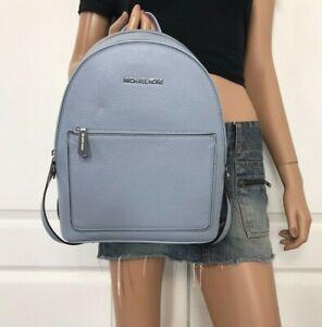 Michael Kors Kenly Medium Adina Backpack Pebbled Leather Blue