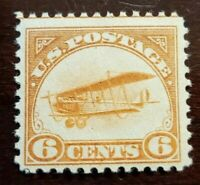 Scott# C1 6c Back of Book Air Mail 1918 Mint NH OG Never Hinged Well Center $110