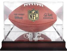 San Francisco 49ers 2019 NFC Champions Mahogany Logo Football Display Case