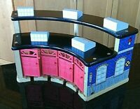 Train Shed Opening Doors Wooden Railway Wood Track Brio Type Building Thomas Toy
