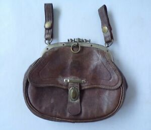 Vintage Medieval Tudor Style Leather Belt Fixed Purse Handbag French? Mans Woman