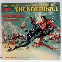 Thunderball Soundtrack LP Vinyl United Artists Records James Bond Movie 33 RPM