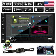 "Double 2Din 7"" Car MP5 Player Touch Screen In Dash Stereo Radio GPS BT Android"
