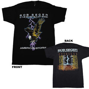 BOB SEGER T-Shirt American Storm Tour 1986 Tee w/ Dates New Official S-2XL