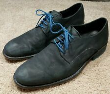 COLE HAAN (C.10015)-Midnight Navy Leather, Mens Casual Oxford Buck Shoes-(9.M)