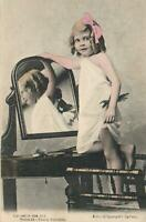VINTAGE CAUGHT in the ACT PRETTY YOUNG GIRL POSTCARD Copyright Kerry Sydney USED