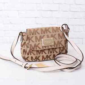 Michael Kors Signature Crossbody Bag Purse Jet Set Leather Chain Pouch AUTHENTIC