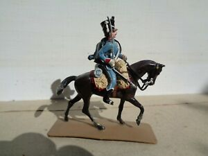 Segom Napoleonic French 10th Hussar trooper cavalry, painted plastic 54mm, TD