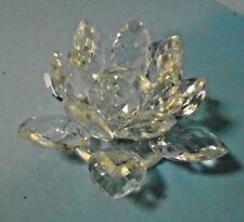 Shannon Designs of Ireland Handmade Crystal Lotus Candle Holder